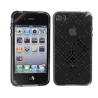 New Clear Rhombus GEL TPU Case Cover for iPhone 4 4G