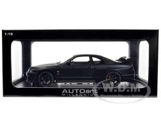 car of Nissan Skyline GT R R33 R Tune Matt Black die cast model car