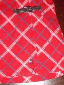 Girls TOMMY HILFIGER New Red Plaid SKIRT Wrap 18 24