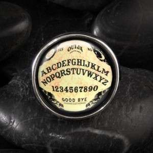 CLEARANCE Ouija Board Horror Halloween Occult Sterling Silver Ring
