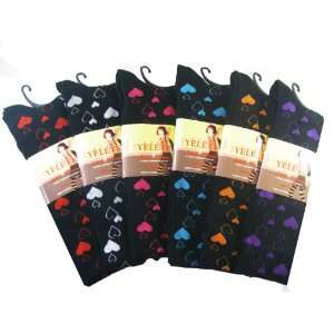 Yelete Fashion Thigh Highs (3 Pairs)   Fashion Tights Assorted Colored