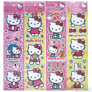 Sanrio Hello Kitty Wall Sticker Decals Cling Set of 4