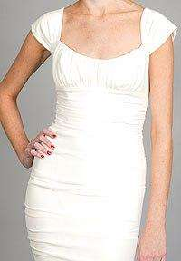 NICOLE MILLER SHIRRED BRIDAL WEDDING GOWN 10 $1600 HG0016