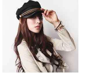 Hot Selling Fashion Black Yacht Captain Skipper Sailer Boat Cap Hat