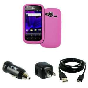 EMPIRE Pantech Burst P9070 Silicone Skin Case Cover (Hot Pink) + USB 2