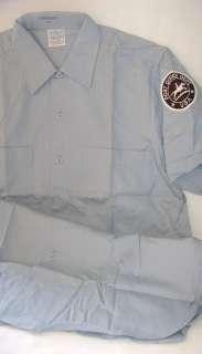 VTG USPS Uniform Shirt Pony Express Badge by Conqueror M NEW