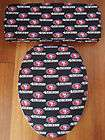 San Francisco 49ers Toilet Seat & Tank Lid Cover Set