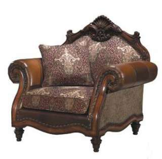 Warm Brown Rococo 3 pc Sofa Set