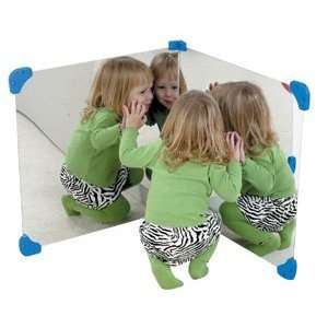 Large Square Corner Wall Mirror Pair 30x30