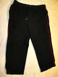 Karen Scott Sports Woman black knit pants womens 1X