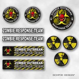ZOMBIE OUTBREAK RESPONSE TEAM dead Hunter decal sticker walking 10