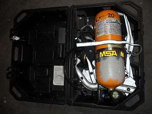 MSA Ultralite II SCBA   Air Tank, Harness, Regulator + Case