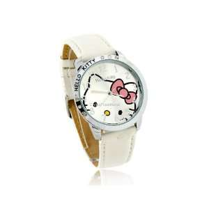 Cute Hello Kitty Dail Analog Wrist Girls Kids Watch White