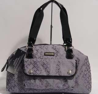 NWT Tommy Hilfiger Black Satchel Tote Handbag Bag Purse
