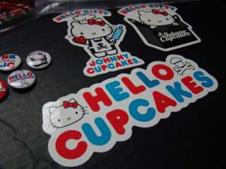 EXCLUSIVE JOHNNY CUPCAKES HELLO KITTY T SHIRT TOTE MUG PINS SIZE LARGE