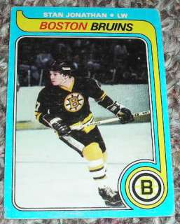 Stan Jonathan 1979 80 Topps Boston Bruins NHL Hockey