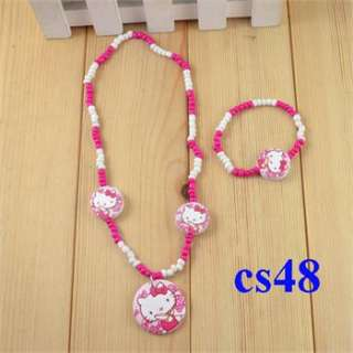Wholesale Lots Cute 4 Sets Wood Beads Children Jewelry Necklace