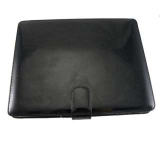 Black Leather Case Cover Housing for Tablet PC iPad