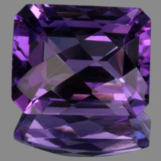 20 ctw SI CLARITY EMERALD CUT CHECKER BOARD SHAPE PURPLE AMETHYSE