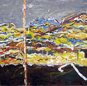 Dan Rapaport Jewish Israeli Art Oil Canvas Lebanon 2