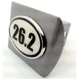 Marathon 26.2 Premium Brushed Metal Trailer Hitch Cover