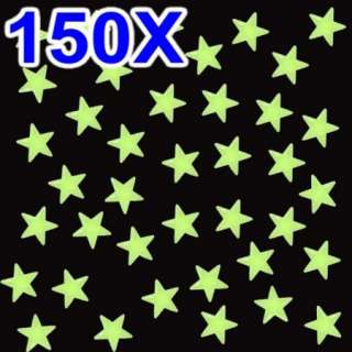 150X GLOW IN THE DARK STARS PLASTIC BABY ROOM NURSERY GOOD GIFT FOR
