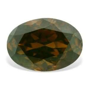 0.35 Ct Cognac Red Oval Shape Loose Real Fine Diamond Jewelry