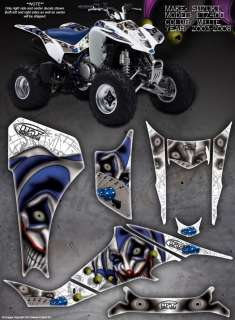 SUZUKI LTZ400 LTZ 400 GRAPHICS DECALS THE EVIL JESTER