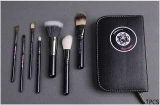 pcs Hello Kitty Makeup Brush Set + Faux Leather Case Black