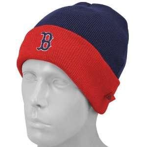 Boston Red Sox Navy Blue Foldover Knit Beanie Cap