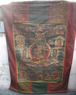 antique very old tibetan Guru Rinpoche thanka, nepal