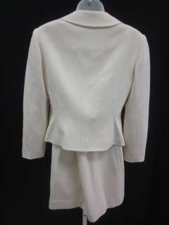 RICKIE FREEMAN TERI JON Cream Blazer Skirt Suit Sz 6