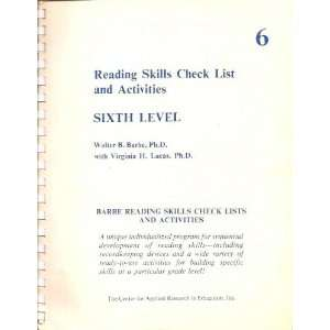 check list and activities, sixth level (Barbe reading skills check
