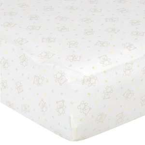 Gerber Fitted Knit Crib Sheet   Bear Baby