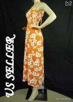NEW Hibiscus Floral Sexy Summer Sun Beach Maxi Dress D2