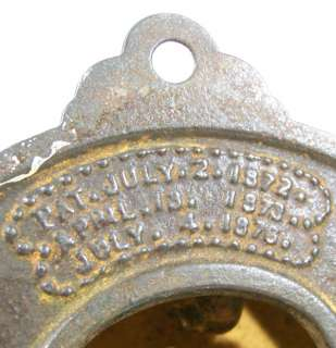 July 4 1876 Victorian EASTLAKE LARGE BRASS STARBURST DOOR BELL antique