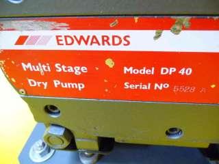 Edwards Multi Stage Dry Vacuum Pump DP 40 working