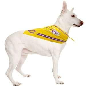 Los Angeles Lakers Logo Cotton Pet Bandana   Gold Sports