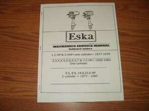 ESKA VINTAGE OUTBOARD MOTOR REPAIR MANUAL 1969 TO 1985