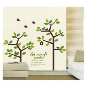 Tree Bird House Wall Sticker Decal for Baby Nursery Kids Room Baby