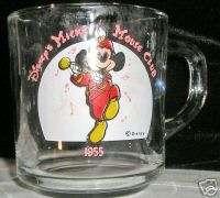 MUG GLASS DISNEY MICKEY MOUSE CLUB 1955 (C) DISNEY