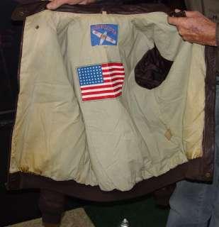 AIRBORNE A 2 Army type leather flight jacket MEDIUM