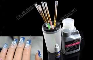 Nail Art Kit Tips Sets Acrylic Powder Liquid 18 Pcs New