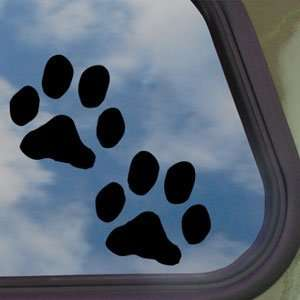 Dog Paw Prints Black Decal Car Truck Bumper Window Sticker