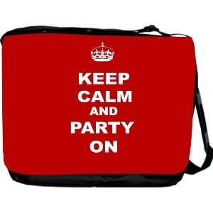 Rikki KnightTM Keep Calm and Party On   Red Color Messenger Bag   Book