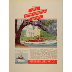 1934 Ad Sterling Engine Models Yacht Douglas Donald
