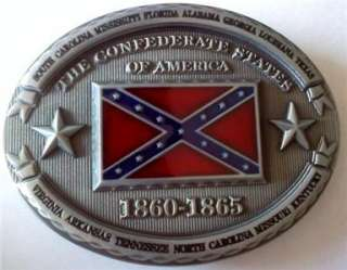 NEW CONFEDERATE CSA REDNECK DIXIE SOUTHERN BELT BUCKLE