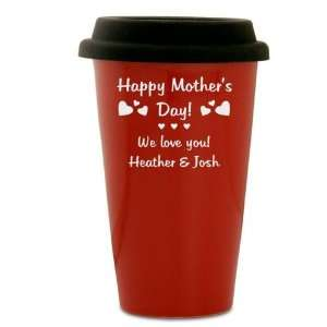 Personalized Mothers Day Coffee Cup with Lid Everything