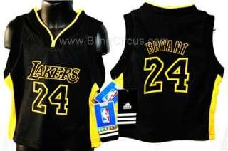 LA Lakers Kobe Bryant Black Kids Jersey Sizes 4,5,6,7