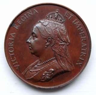QUEEN VICTORIA DIAMOND JUBILEE 1897 BRONZE MEDAL SUPERB CONDITION